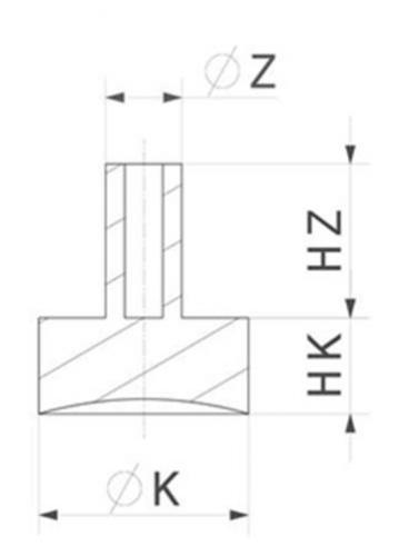 Zeichnung Glasauflagen