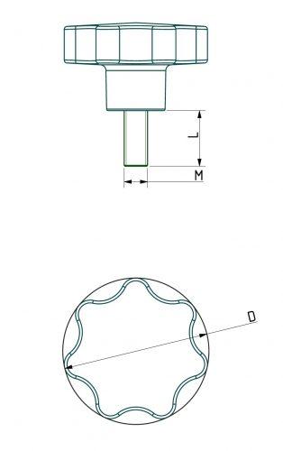 Star-handle for screws