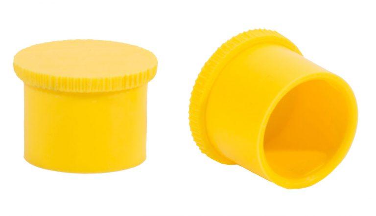 Cap with knurled edge