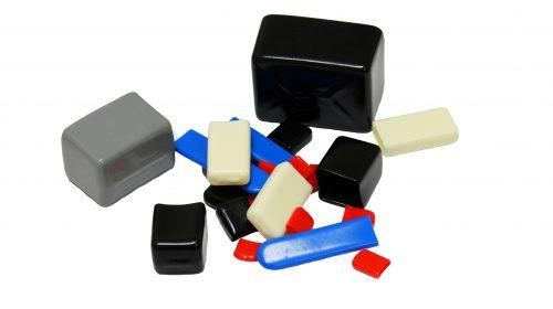 Rectangular Plastic Caps, Dip Molding