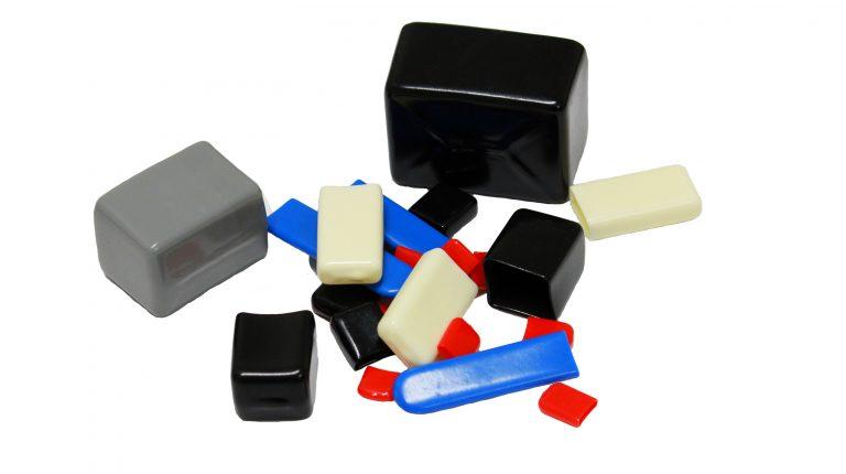Rectangular plastic caps