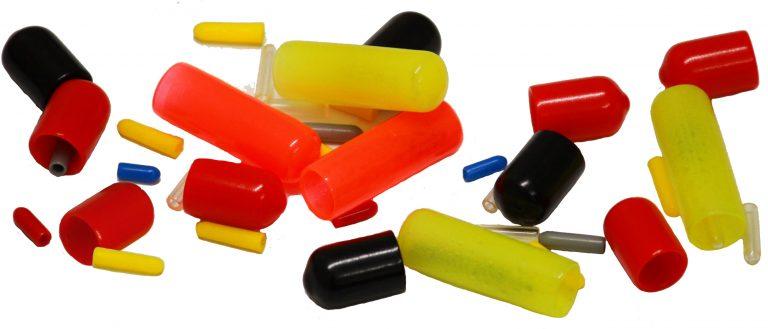 Plastic caps for round profile
